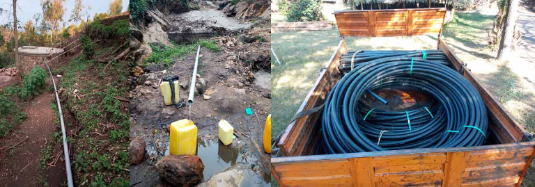 Water supply and pipe lining