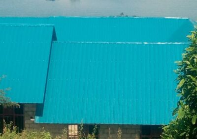 Newly roofed primary school block